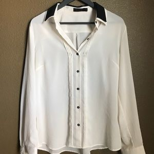 The Limited tuxedo style blouse
